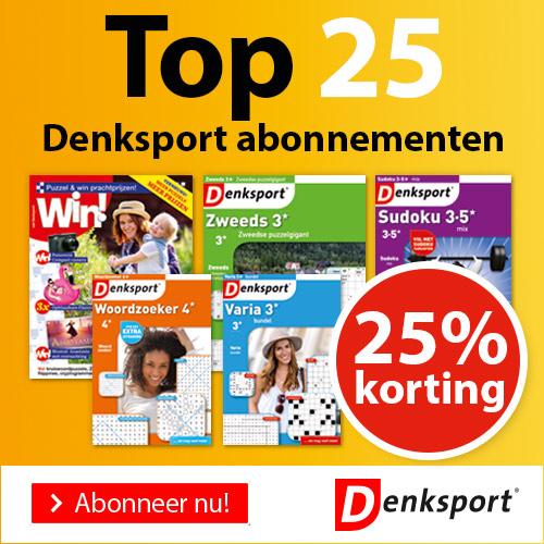 Afbeelding van Denksport Puzzelbladen- 25% Korting