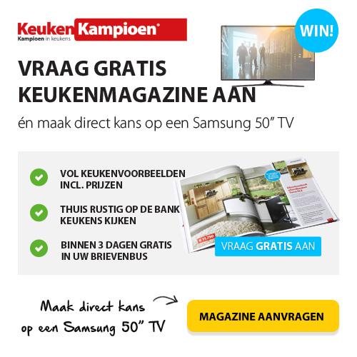 "Gratis Keukenkampioen magazine + Kans op Samsung 50"" TV"