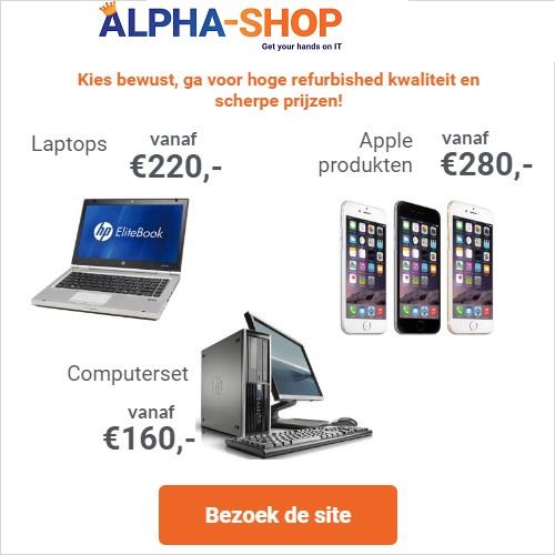 Alpha-Shop biedt de hoogste kwaliteit refurbished en de beste A merk IT apparatuur tegen een zeer scherpe prijs