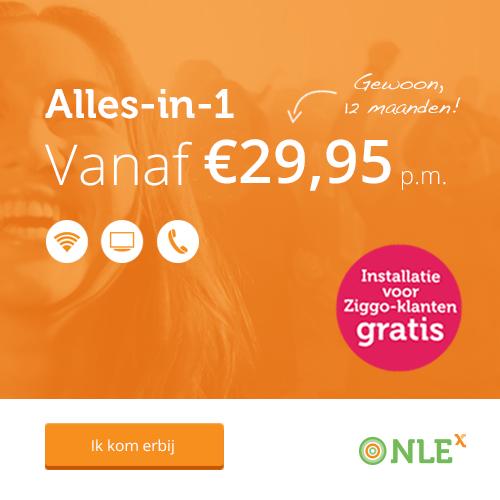 NLEx Alles-in-1 pakket in de aanbieding met €25 korting Energievergelijking.nl