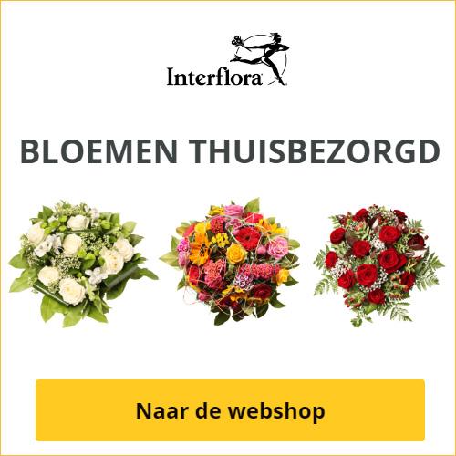 Fleurop-Interflora :  Besteld voor 13 uur = vandaag nog geleverd Persoonlijke levering door lokale florist Verse bloemen met 100 % kwaliteitsgarantie Beveiligde betaling