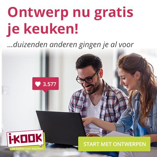 Ontwerp Gratis je keuken bij I-KOOK keukens