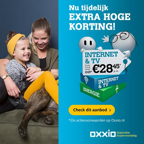 Oxxio Internet Tv en Bellen met 10 euro korting