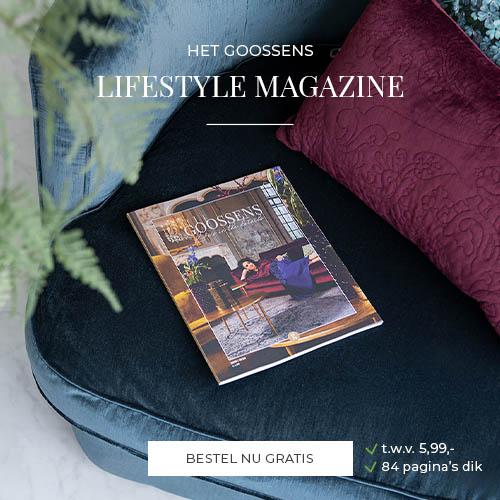 € 20,- shoptegoed bij Gratis brochure van Goossens