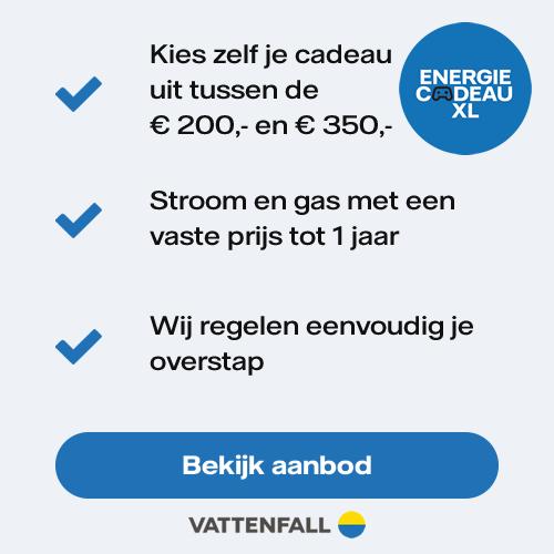 Vattenfall | EnergiecadeauXL 1 Jaar