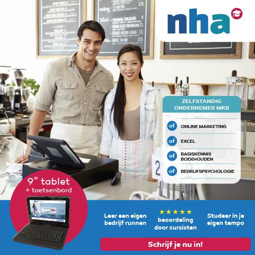 """NHA studie met gratis 9"""" Tablet + toetsenbord"""