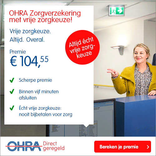 OHRA Zorgverzekering 2017 - Altijd vrije keuze