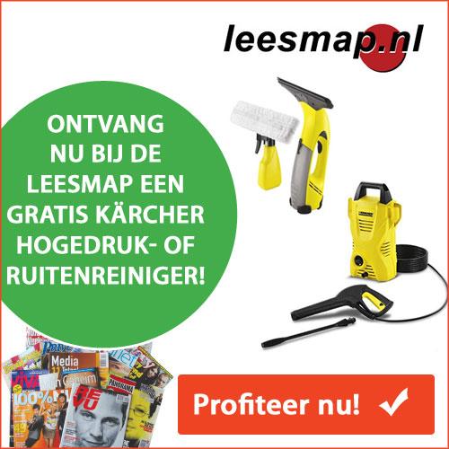 Leesmap met gratis Kärcher Hogedrukreiniger!