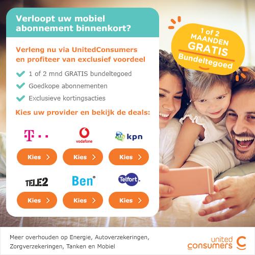 United consumers | 1 of 2 maanden gratis