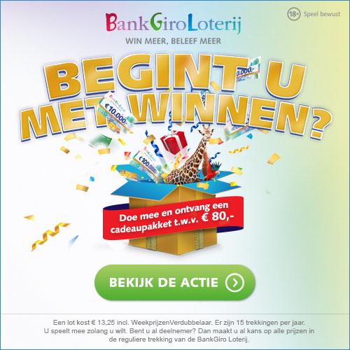 Winnen met de Bankgiroloterij