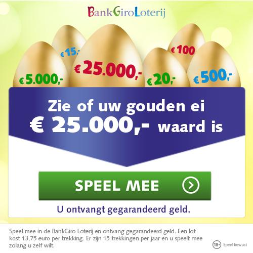 Bankgiro Loterij   Is, jou Gouden Code € 25000.- waard? De mee en je ziet direct of je prijs hebt.