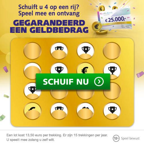 Gratis meespelen in de Bank Giro Loterij! Speel 4 op een Rij