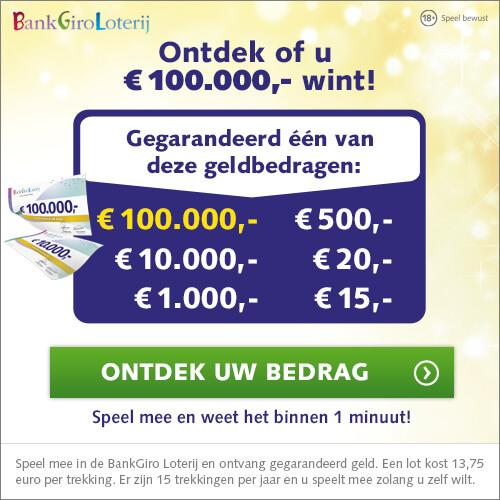 Doe mee en win een cheque van € 100.000,-