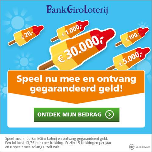 BankGiro Loterij voordeel met de ijs campagne