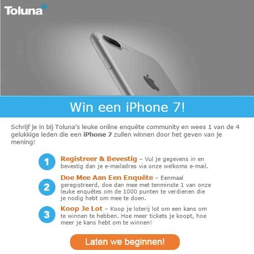 Win een iPhone 7 bij Toluna