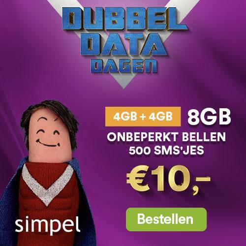 Dubbel Data dagen 8 GB