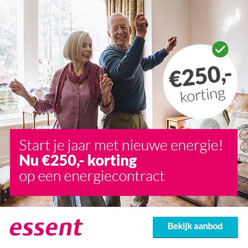 Vergelijk Energie bij Essent met € 250.- voordeel