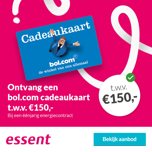 Essent energie met Gratis Bol.com bon t.w.v. € 200.-