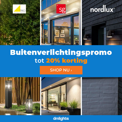 dmLights (NL) – Tot 20% korting op buitenverlichting van Trio, Nordlux en SG Lighting